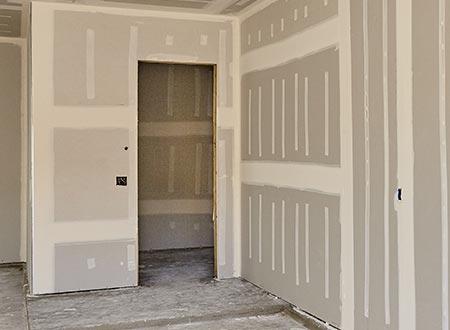 gyproc wanden met deur