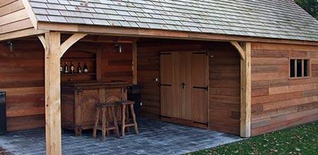houten bijgebouw in Lanaken
