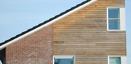 houten gevelbekleding in Brugge